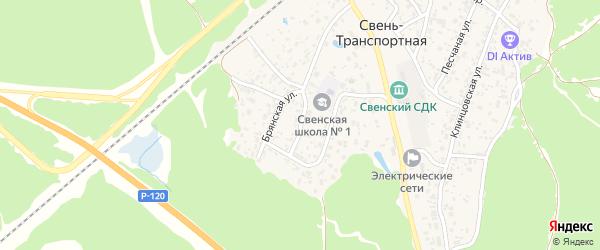 Транспортный переулок на карте поселка Свень-транспортной с номерами домов