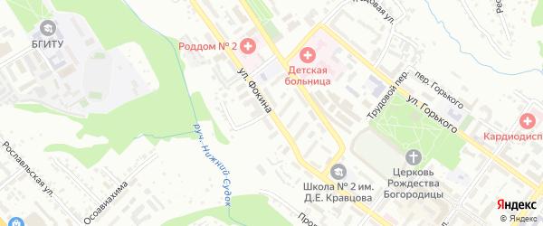 Улица Фокина на карте Брянска с номерами домов