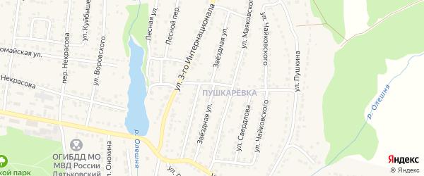 Звездная улица на карте Дятьково с номерами домов