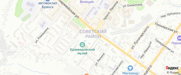 Территория ГО Красных Партизан на карте Брянска с номерами домов