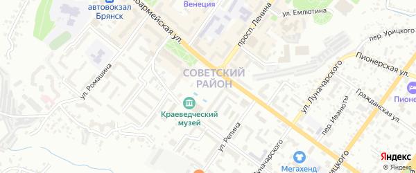 Площадь Партизан на карте Брянска с номерами домов