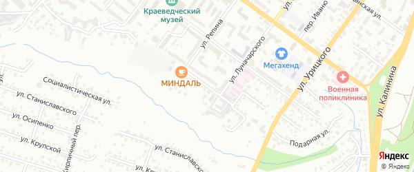 Территория ГО Крапивницкого на карте Брянска с номерами домов