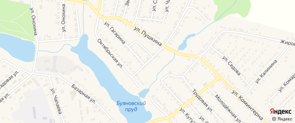 Переулок 1-й Пушкина на карте Дятьково с номерами домов