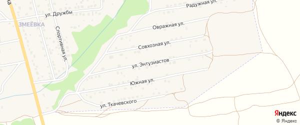 Улица Энтузиастов на карте Дятьково с номерами домов