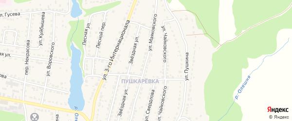 Улица Маяковского на карте Дятьково с номерами домов