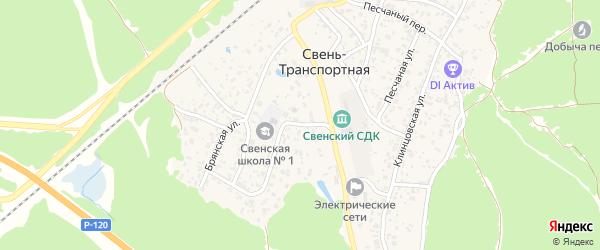 Улица Зеленый Бор на карте поселка Свень-транспортной с номерами домов