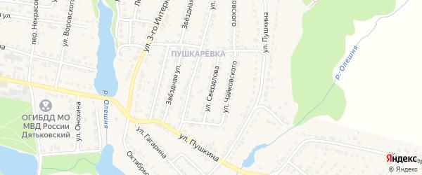 Улица Свердлова на карте Дятьково с номерами домов