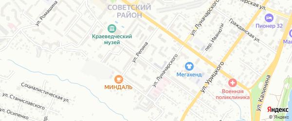 Улица Софьи Перовской на карте Брянска с номерами домов