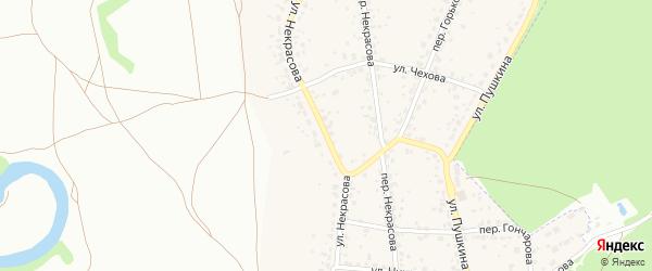 Улица Некрасова на карте поселка Радицы-Крыловки с номерами домов