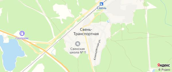 Карта поселка Свень-транспортной в Брянской области с улицами и номерами домов