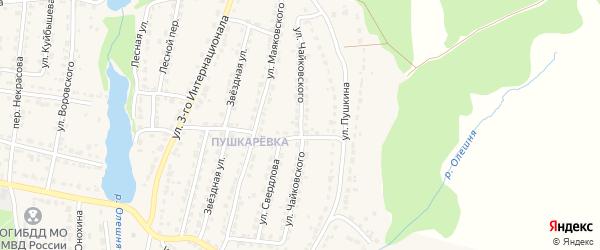 Улица Чайковского на карте Дятьково с номерами домов