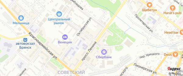Улица Емлютина на карте Брянска с номерами домов