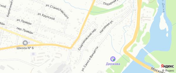 Спартаковский переулок на карте Брянска с номерами домов