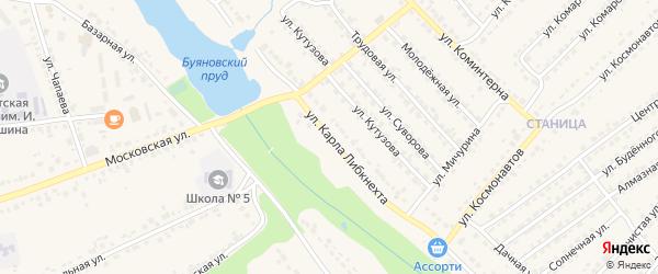 Улица К.Либкнехта на карте Дятьково с номерами домов
