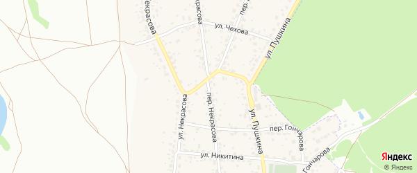 Переулок Некрасова на карте поселка Радицы-Крыловки с номерами домов