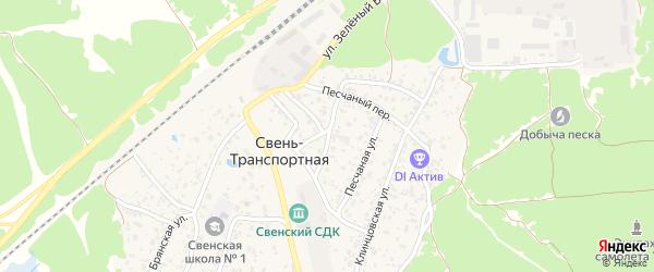 Деповская улица на карте поселка Свень-транспортной с номерами домов