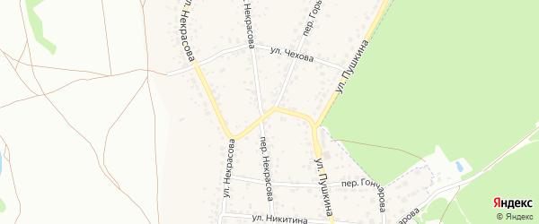 Переулок Чехова на карте поселка Радицы-Крыловки с номерами домов