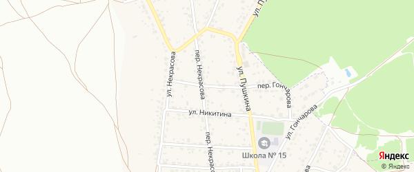 Переулок Никитина на карте поселка Радицы-Крыловки с номерами домов