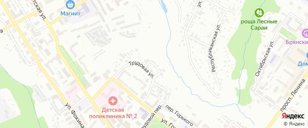 Трудовой проезд на карте Брянска с номерами домов