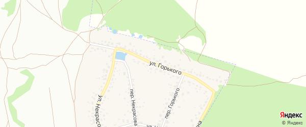 Улица Горького на карте поселка Радицы-Крыловки с номерами домов