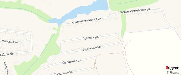 Луговая улица на карте Дятьково с номерами домов