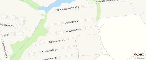 Радужная улица на карте Дятьково с номерами домов