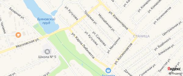 Улица Кутузова на карте Дятьково с номерами домов