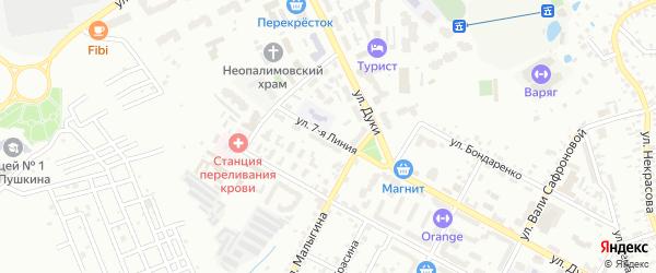 Улица 7-я Линия на карте Брянска с номерами домов