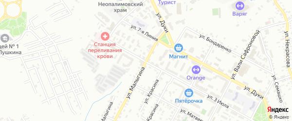 Улица Малыгина на карте Брянска с номерами домов