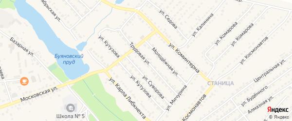 Трудовая улица на карте Дятьково с номерами домов