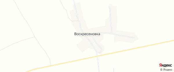 Карта деревни Воскресеновки в Брянской области с улицами и номерами домов