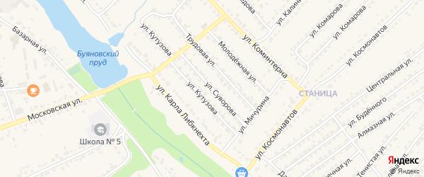 Улица Суворова на карте Дятьково с номерами домов