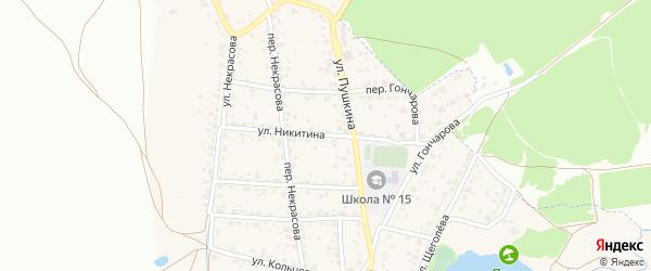 Улица Никитина на карте поселка Радицы-Крыловки с номерами домов