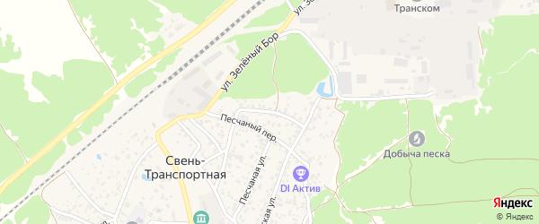 Задворная улица на карте поселка Свень-транспортной с номерами домов