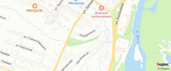 Подарная улица на карте Брянска с номерами домов