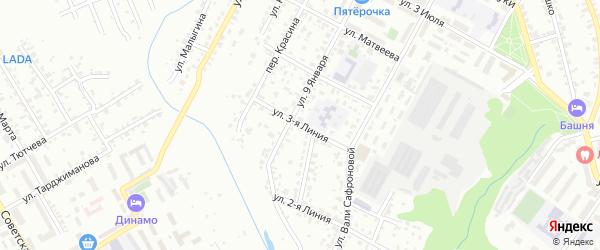 Улица 3-я Линия на карте Брянска с номерами домов
