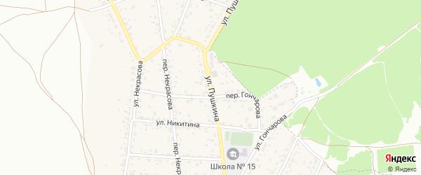 Улица Пушкина на карте поселка Радицы-Крыловки с номерами домов