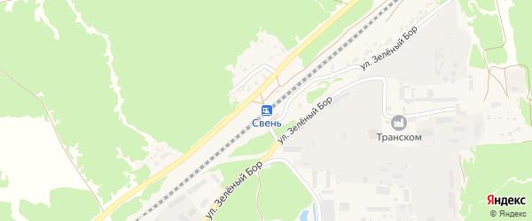 Территория ГСК Свень(Клубная) на карте поселка Свеня с номерами домов