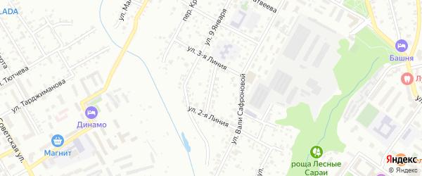 Республиканский переулок на карте Брянска с номерами домов