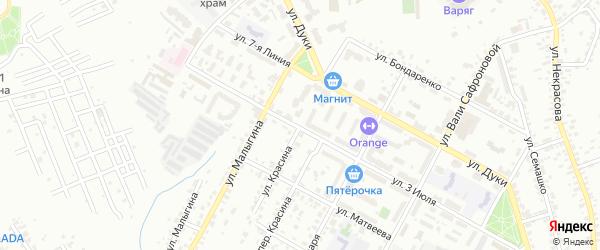 Улица Красина на карте Брянска с номерами домов