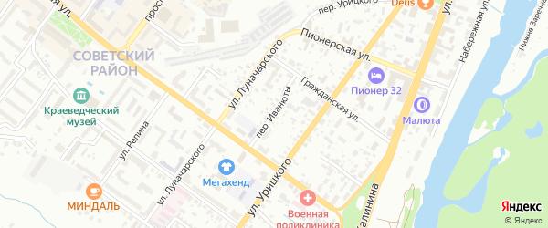 Переулок Иванюты на карте Брянска с номерами домов