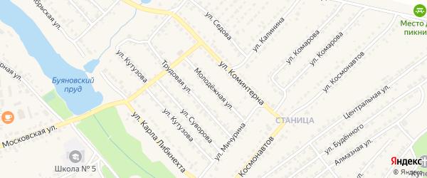Молодежная улица на карте Дятьково с номерами домов