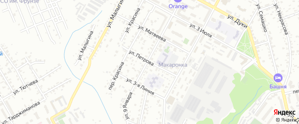 Улица Петрова на карте Брянска с номерами домов