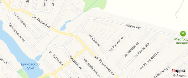 Улица Седова на карте Дятьково с номерами домов