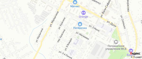 Улица Матвеева на карте Брянска с номерами домов