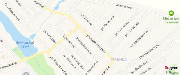 Улица Коминтерна на карте Дятьково с номерами домов