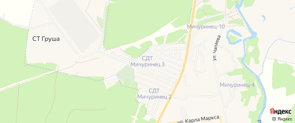 Карта территории сдт Золотые ключи в Брянской области с улицами и номерами домов