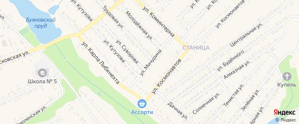 Улица Мичурина на карте Дятьково с номерами домов
