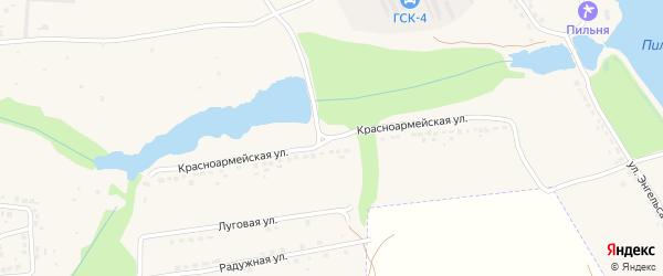 Красноармейская улица на карте Дятьково с номерами домов