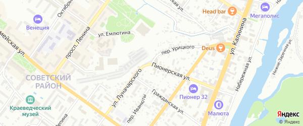 Улица Луначарского на карте Брянска с номерами домов